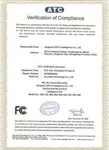 Verification of compliance for HUNE digital door lock to ensure the safety of door lock.
