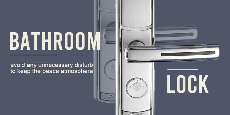 Product banner for bathroom lock of HUNE digital door lock Malaysia and suitable for hotel or residential use.