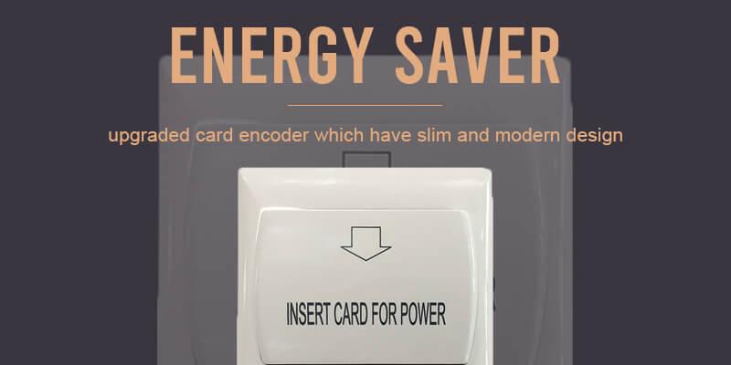 security door lock and energy saver