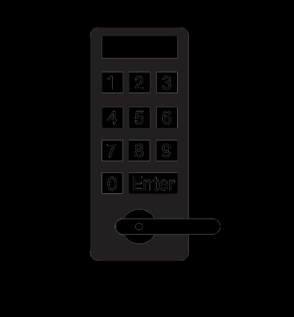 Password keypad digital door lock icon.