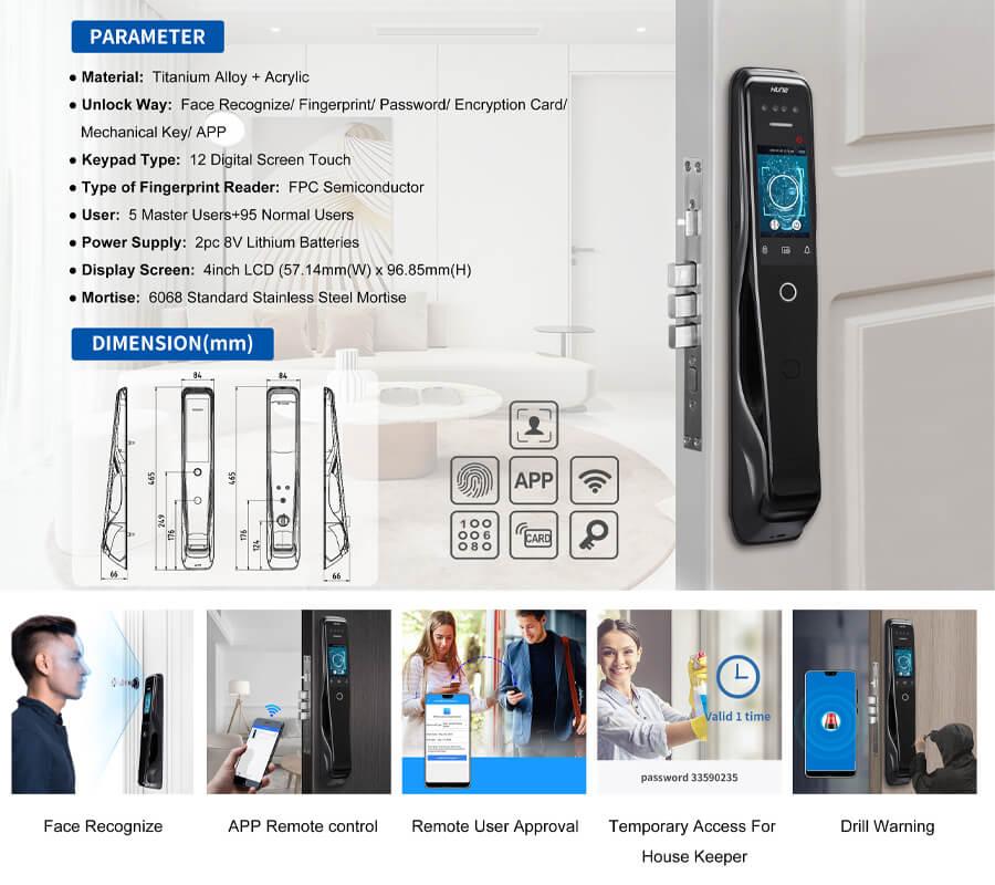 Fingerprint door lock 918-X9 features
